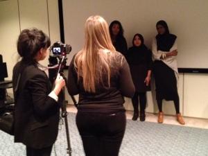 UN TV shoot